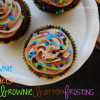 Brownie Cupcakes with Brownie Batter Frosting