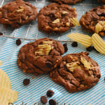 Dark Chocolate Toffee Potato Chip Cookies