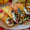 Birthday Cake Cannolis