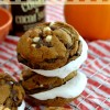 Gingerbread S'mores Cookie Sandwiches