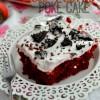 Skinny Red Velvet Poke Cake