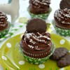 Andes Thin Mint Cupcakes
