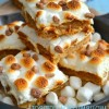 Toasted Marshmallow Caramel Butter Pecan Bars