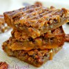 Salted Caramel Pecan Pie Bars {Nutty Desserts Week!!}