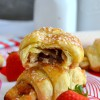 Strawberry & Nutella Croissants