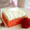 Strawberries & Cream Sheet Cake