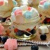 No Bake Patriotic Marshmallow Cheesecakes