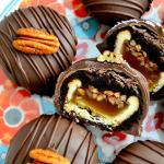 Pecan Pie Brownie Bombs