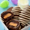 Reese's Egg Brownie Bombs