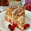 Cranberry Walnut Crumb Cake