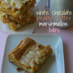 White Chocolate Peanut Butter Marshmallow Bars