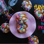 Funfetti Cake Batter Pretzel Bites