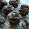 Double Chocolate Fudge Oreo Mocha Muffins