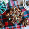 Chocolate Mint Seven Layer Bars