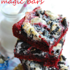Red Velvet Cookies n Cream Magic Bars