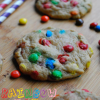 Rainbow M&M Cookies