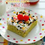 Banana Split Poke Cake