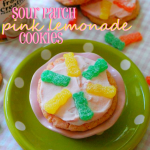 Sour Patch Pink Lemonade Cookies