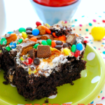 Candy Bar Poke Cake