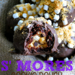 S'mores Cookie Dough Brownie Bombs