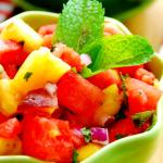 Watermelon Dessert Salsa & Cinnamon Sugar Pita Chips--Fresh Finds with Save Mart Supermarket