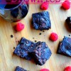 Dark Chocolate Red Wine Brownies