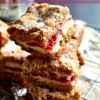 Oatmeal Cookie Peanut Butter & Jelly Donut Bars