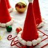 Santa Hat Cookie Cones