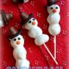 Snowman Donut Pops