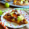 Caramel Apple Cheesecake Peanut Butter Cookie Pizza & a Musselman's Giveaway! #AppleButterSpin