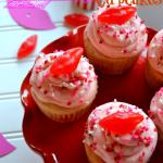 Red Hot Cinnamon Cupcakes