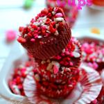 Red Velvet Cream Cheese Cups