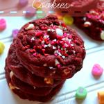 {The Chewiest!} Red Velvet M&M's Cookies