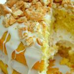 Golden Oreo Overload Cake