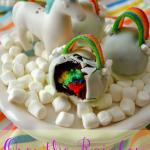 Over the Rainbow Brownie Bombs