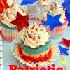 Patriotic Tye Dye Cupcakes