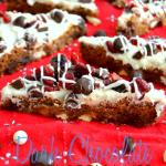 Dark Chocolate Cranberry Bliss Blondie Bars #LoveDoveFruits