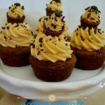Chocolate Cookie Cups with Peanut Butter Cheesecake Frosting and National Dessert Month with California Milk and Tieks!