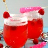 Raspberry Candy Champagne Punch {Happy New Year!}