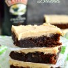 Bailey's Brown Butter Frosted Brownies