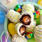 Cadbury Creme Egg Brownie Bombs