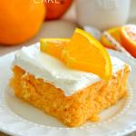 Skinny Orange Creamsicle Poke Cake