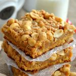 Chewy Peanut Brittle Bars