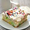 Skinny Funfetti Poke Cake