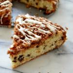 Chocolate Chip Crumb Cake with Vanilla Bean Glaze