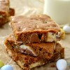 Salted Cadbury Egg Blondies