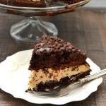 Chocolate Chip Cookie Dough Brownie Bomb Cake