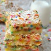 Cake Batter Gooey Bars