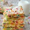 Cake Batter Gooey Bars