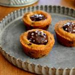 Salted Ganache Cookie Cups
